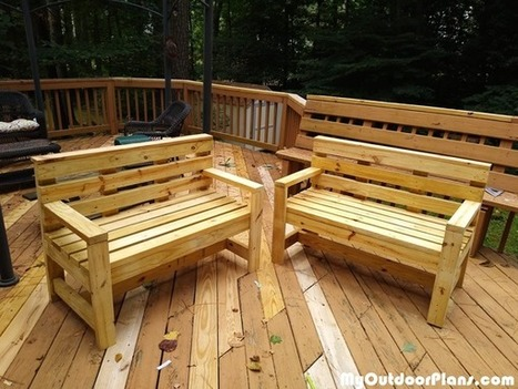 Outstanding Outdoor Bench From 2X4S Diy Project Myoutdo Pdpeps Interior Chair Design Pdpepsorg