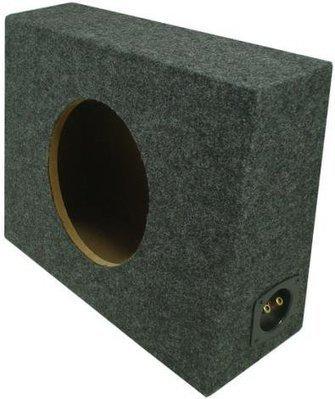 "ASC Single 12/"" Subwoofer Sealed Universal Fit Angled Hatch Sub Box Speaker"