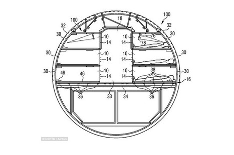 En images : Airbus dépose un brevet pour un avion équipé de couchettes   Agnès FAURY CEDIOLI   Scoop.it