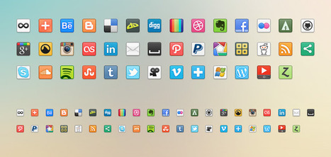 41 Free Social Media/Networking Icons (PNG) | Premium Pixels | DIY: WEB & MOBILE | Scoop.it
