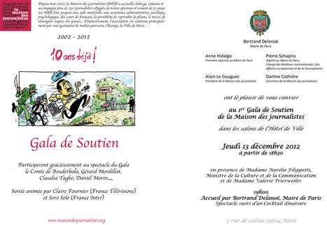 10 ans déjà ! Gala de soutien à la Maison des journalistes, le 13 décembre 2012 - Journalisme.com | être réfugié en France et dans le monde | Scoop.it