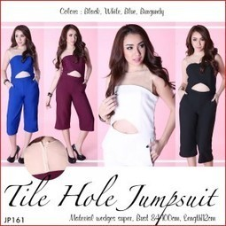 Tile Hole Jumpsuit Playsuit (JP161)  4b62cff353