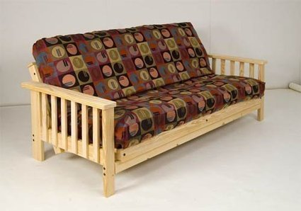 b914bc203c39 Deal Product -Futon Set - Mission Style - Super Strong - Solid Wood Frame  AND 9 Inch Plush Cotton-Foam Mattress