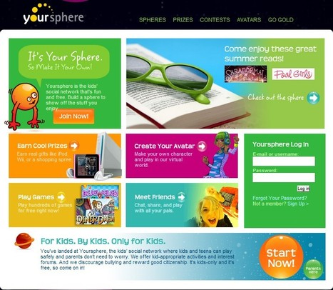 Social Networking for Kids: Yoursphere | 21st Century Tools for Teaching-People and Learners | Scoop.it