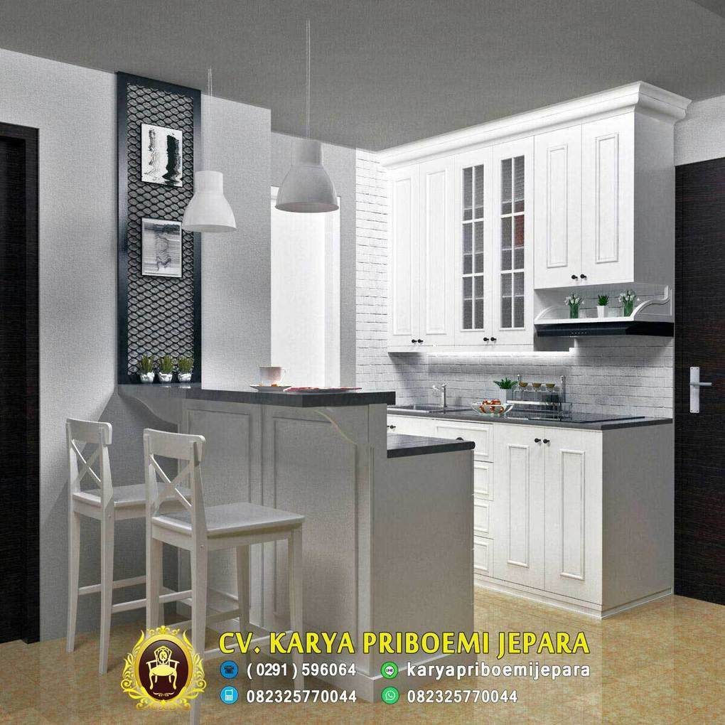 Pantry dapur minimalis duco putih furniture j
