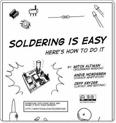 How to Solder: A Comic | Active Learning | Makerspaces | Scoop.it