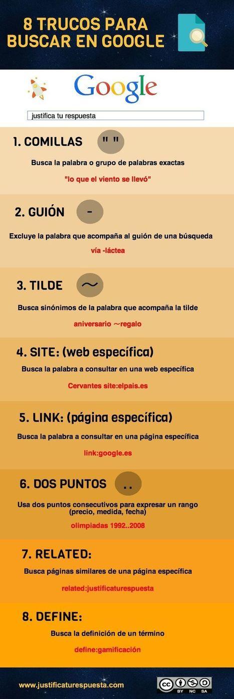8 sencillos trucos para mejorar tus búsquedas en Google (infografía) | Cajón de sastre Web 2.0 | Scoop.it