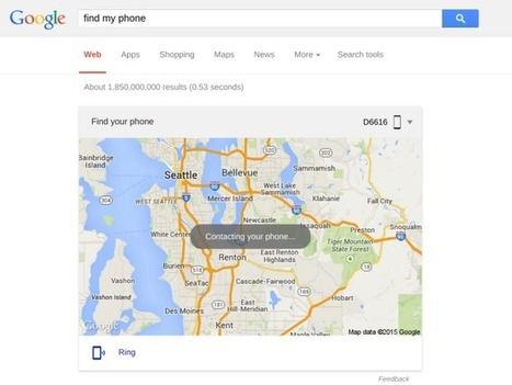 Type 'Find My Phone' Into Google On Your Computer And Immediately Locate Your Android Phone | Mobile & Technology | Scoop.it