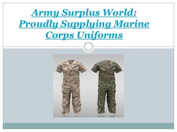 marine corps uniforms' in Supplier of Military Surplus
