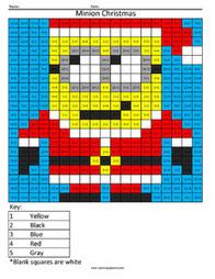 Minion Christmas Holiday Division Coloring S