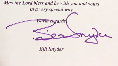 Bill Snyder's letter-writing impacts all kinds of people | All Things Wildcats | Scoop.it