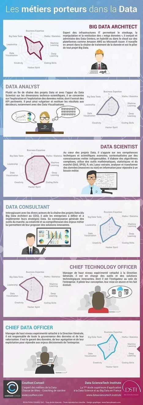 Les 6 métiers porteurs dans la data en une infographie | Environnement Digital | Scoop.it