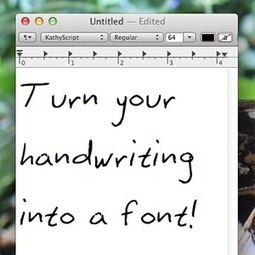 How To Turn Your Handwriting Into A Font | #CentroTransmediático en Ágoras Digitales | Scoop.it