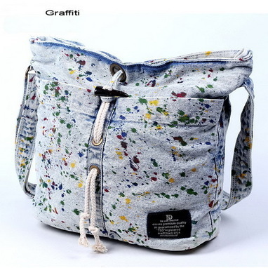 Graffiti denim cross shoulder bags for women - $78.60 : Notlie handbags, Original design messenger bags and backpack etc | personalized canvas messenger bags and backpack | Scoop.it