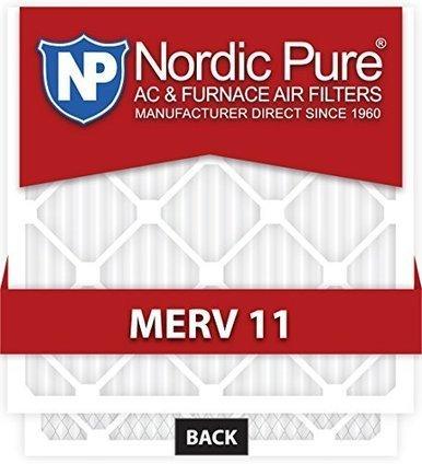 Nordic Pure 16x25x1 MERV 13 Tru Mini Pleat AC Furnace Air Filters 2 Pack