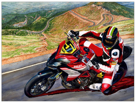 A Moment With Ducati Artist Chris Woolley | Vicki's View Blog | Ductalk Ducati News | Scoop.it