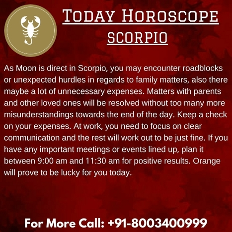 free daily love horoscope scorpio