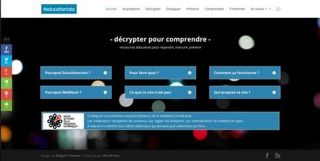 EducAttentats  site qui propose des outils et des «  kits  » éducatifs pour décrypter l'information et dénoncer les rumeurs et fausses images.   enseignement en primaire   Scoop.it