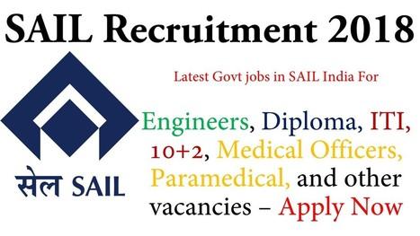 SAIL Recruitment 2018-19 Steel Authority of Ind... on physics jobs, railway jobs, law jobs, hr jobs, industry jobs, english jobs, church jobs, private sector jobs,