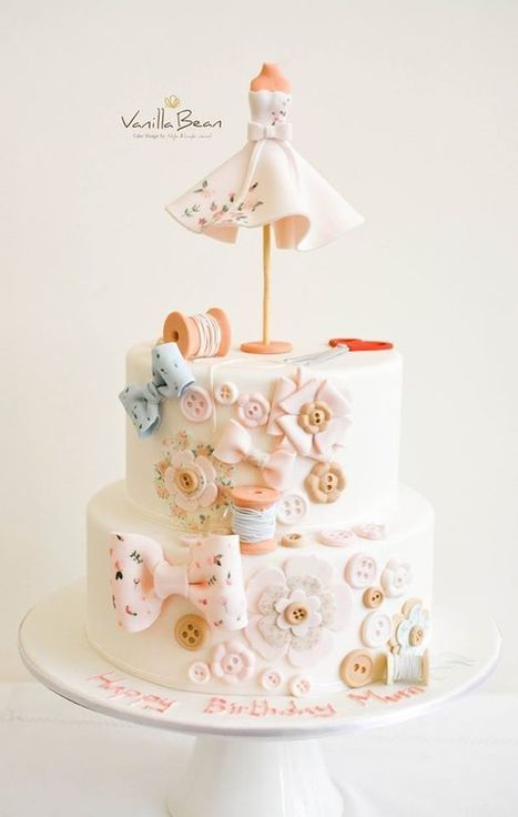 Sewing Themed Cakes / Sewing Cake Ideas– CrustNCakes | Online Cake Delivery in Gurgaon | Fiber Arts | Scoop.it