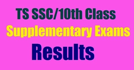 TS SSC/10th Class Supplementary Results 2017 Ma