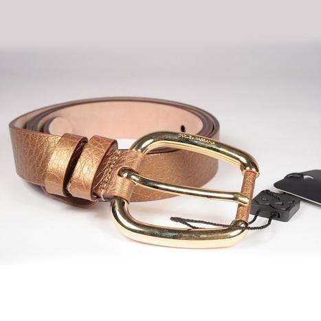 Dolce   Gabbana Womens Bronze Leather Belt (DGB100) b26c64f33f