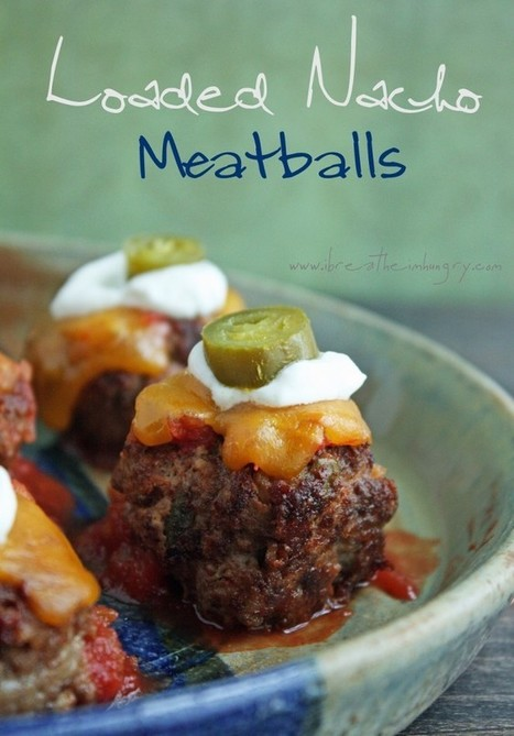 Loaded Nacho Meatballs (Low Carb and Gluten Free) | Paleo Primal Diet | Scoop.it