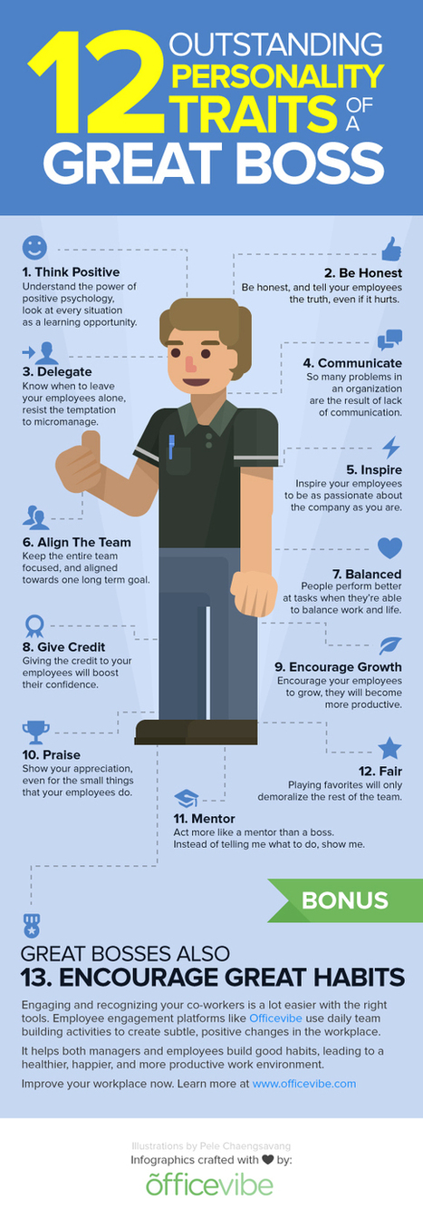 12 Personality Traits That Make You a Rock-Star Boss (Infographic) | The Genuine Leader: Leadership for the 21st Century | Scoop.it