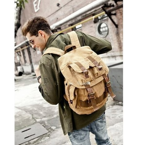Army canvas backpack for daytrip | Womens fashion | Scoop.it