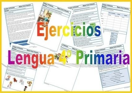 Fichas de ejercicios de Lengua Cuarto Primaria ...