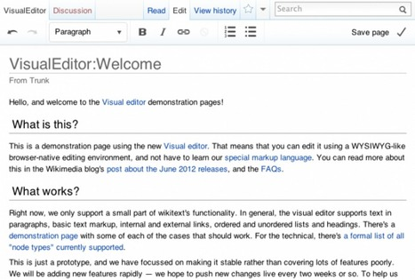 Wikipedia Hopes To Boost Tiny Contributor Number With New Editing Platform | OTHER NEWS | TechDrink | Technology Juice | Scoop.it