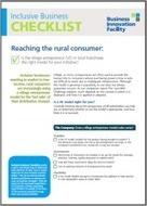 Inclusive Business Checklist: Reaching the Rural Consumer - THE PRACTITIONER HUB | Entrepreneuriat Social, Management & Créativité pour Entreprises sociales | Scoop.it
