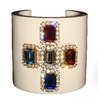 CHANEL Vintage '95 Resin and Crystal Cuff