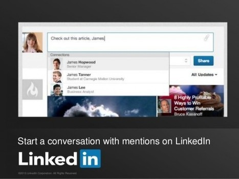 LinkedIn starts rolling out mentions feature - Internet Marketing Blog | Social Media Article Sharing | Scoop.it