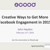 Creative Ways to Get More Facebook Engagement in 2015 | ePhilanthropy | Scoop.it