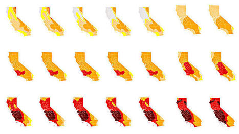 172 drought maps reveal just how thirsty California has become | green infographics | Scoop.it