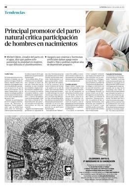 Principal promotor del parto natural critica participación de hombres en nacimientos | Tendencias | La Tercera Edición Impresa | Cuidando... | Scoop.it