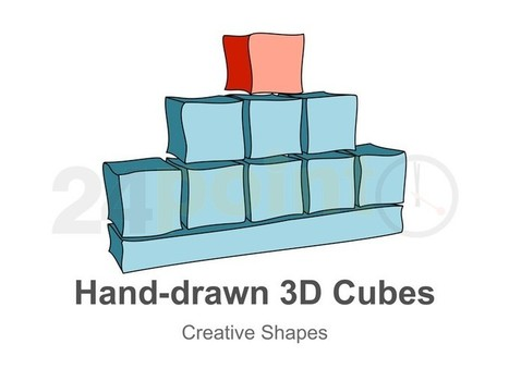 Cube Shapes - Three Dimensional Hand-drawn in PowerPoint | PowerPoint Presentation Tools and Resources | Scoop.it