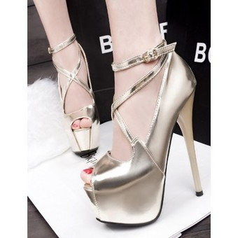 Strap patent leather Peep Toe Shoes | my like | Scoop.it