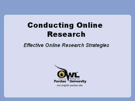 Purdue OWL: Searching the World Wide Web   Walnut_L.A.   Scoop.it