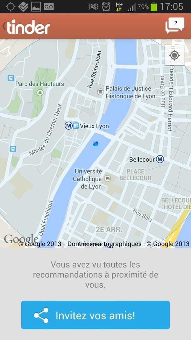 Application de rencontre geolocalisee