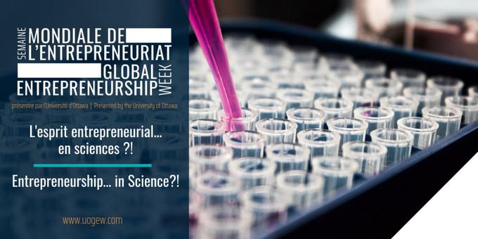 Entrepreneurship… in Science?! | Faculty of Science | University of Ottawa