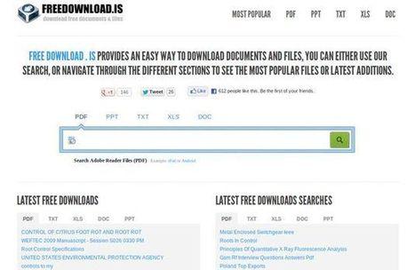 Freedownload: buscador temático especializado en documentos PDF, TXT, DOC, XLS y PPT | Herramientas digitales | Scoop.it