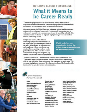 What it Means to be Career Ready | College and Career-Ready Standards for School Leaders | Scoop.it