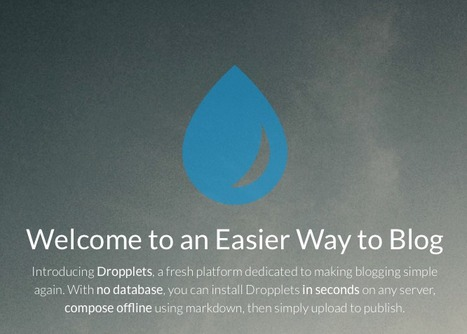 Welcome to an Easier Way to Blog - Dropplets | Visual Storytelling | Scoop.it