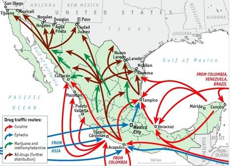 La cambiante geografía de la narcoviolencia en México. Cuadro The Economist | Geografía | Scoop.it