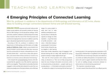 4 Emerging Principles of Connected learning | Educación flexible y abierta | Scoop.it