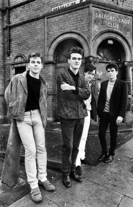Smiths fans pose outside Salford Lads Club | Alternative Rock | Scoop.it