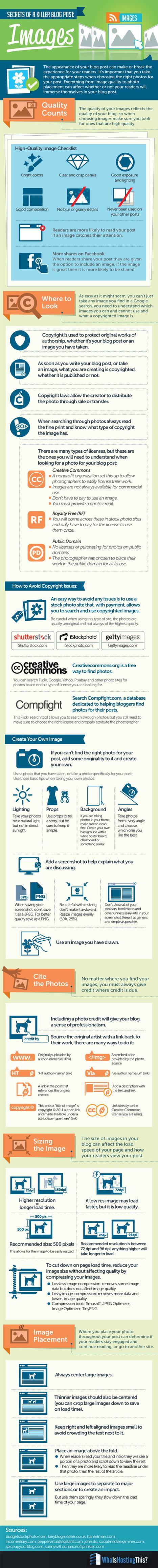 Secrets of a Killer Blog Post:Images [infographic] | COMMUNITY MANAGEMENT - CM2 | Scoop.it