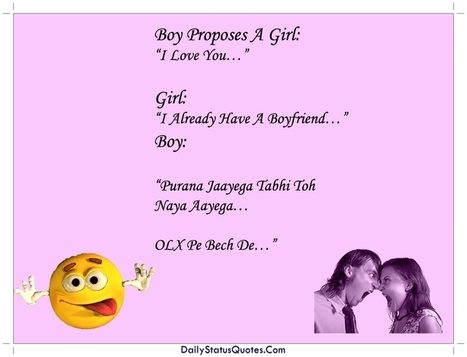 Boy Proposes A Girl Quotes Daily Status Quote